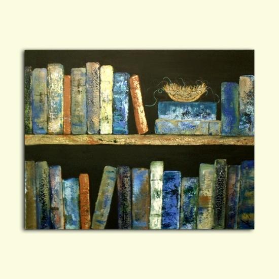 Bird Nest in library books