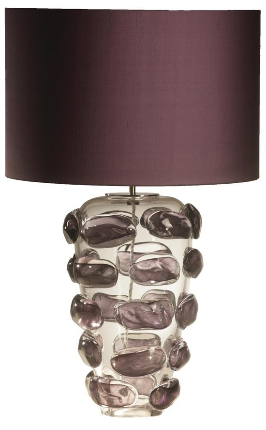 Designer Purple Art Glass Table Lamp, sharing luxury designer home decor inspirations and ideas for beautiful living rooms, dinning rooms,     bedrooms & bathrooms inc furniture, chandeliers, table lamps, mirrors, art, vases, trays, pillows &     accessories courtesy of InStyle Decor Beverly Hills enjoy & happy pinning