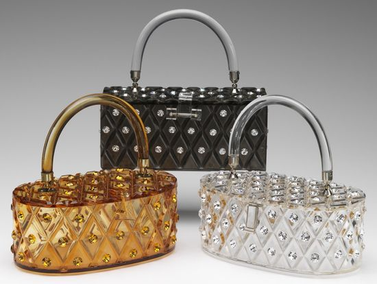 Maxim lucite purses with rhinestones. #vintage #handbags #purses #accessories