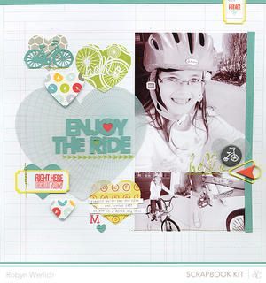 Enjoy the Ride *Main Kit Only* by RobynRW at Studio Calico using the Block Party scrapbook kit and add ons
