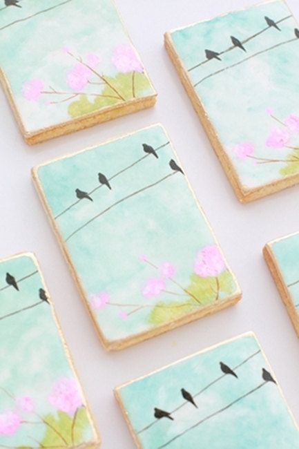 Birds on a  Wire Cookies. $48.00, via Etsy.