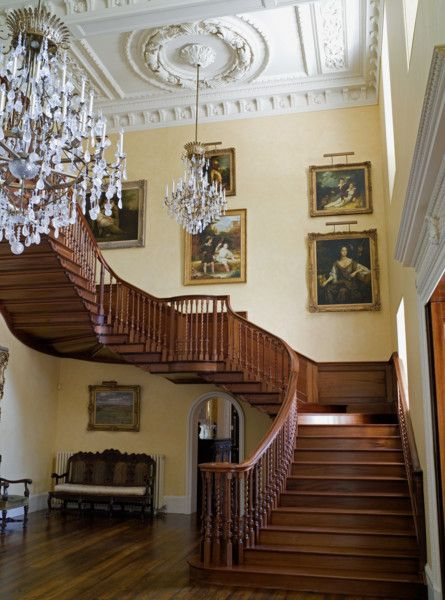 Main staircase in a new build Scottish Georgian style house