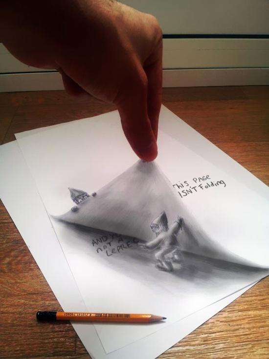 3D optical illusion art