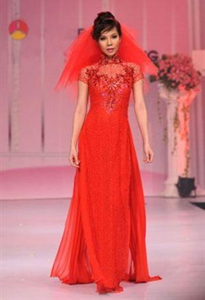 Red Ao Dai Wedding Dress
