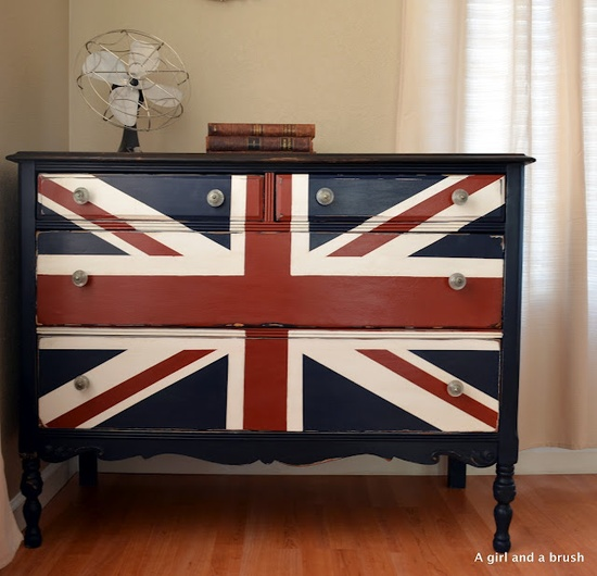 Union Jack dresser.....Found your next project Laurie