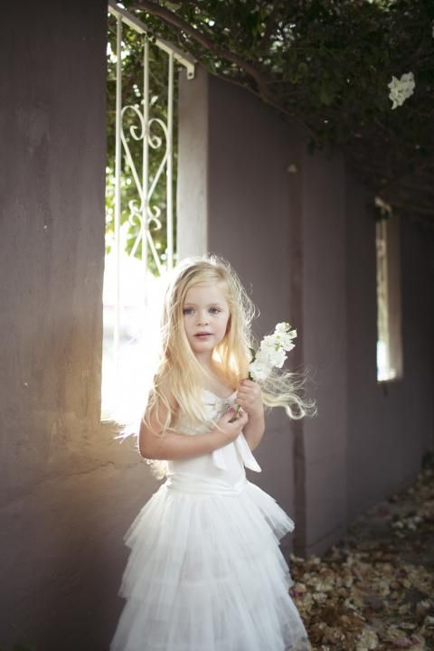 The LANE's Sweet Spring Soiree flower girl shoot / Tea Princess Lulu Dress (instagram: the_lane)