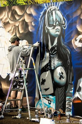 Gnasher at Upfest '13 in Bristol, UK #Gnasher #Graffiti #StreetArt #Upfest #Bristol #UK #England