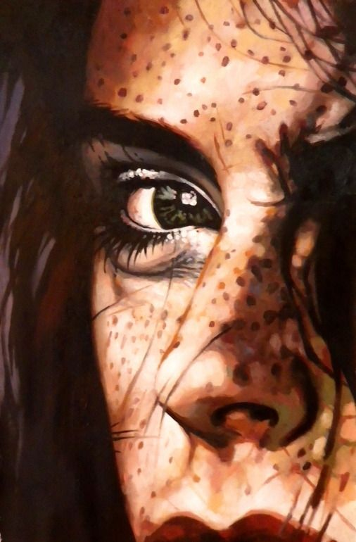 "Artist: thomas saliot; Oil, Painting ""Intense Close up"""