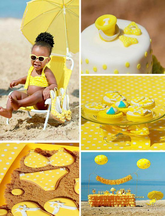Yellow Polka Dot Bikini Party with LOTS of REALLY Cute Ideas via Kara's Party Ideas