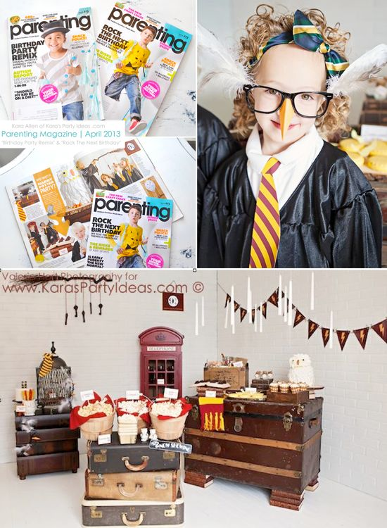 Harry Potter themed birthday party in Parenting Magazine by Kara Allen of Karas Party Ideas KarasPartyIdeas.com #harry #potter #party #ideas #themed #cake #decor #printables