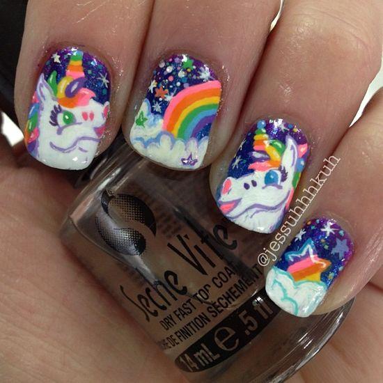 ??Lisa Frank nails!