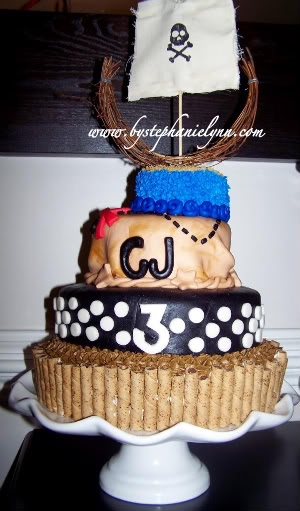 Pirate Party Birthday Cake - Under the Table and Dreaming