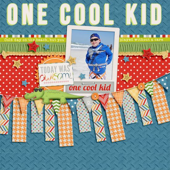 #papercraft #scrapbook #layout One Cool Kid via SweetShoppeDesign...