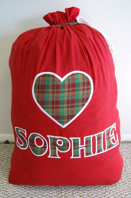 Personalized Santa Sack by SamanthasEmbroidery on Etsy, $30.00