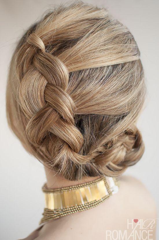Hair Romance - 30 Buns in 30 Days - Day 8 - Dutch braided bun hairstyle