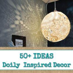 50+ Ideas for Doily Inspired Decor - www.reincarnation...