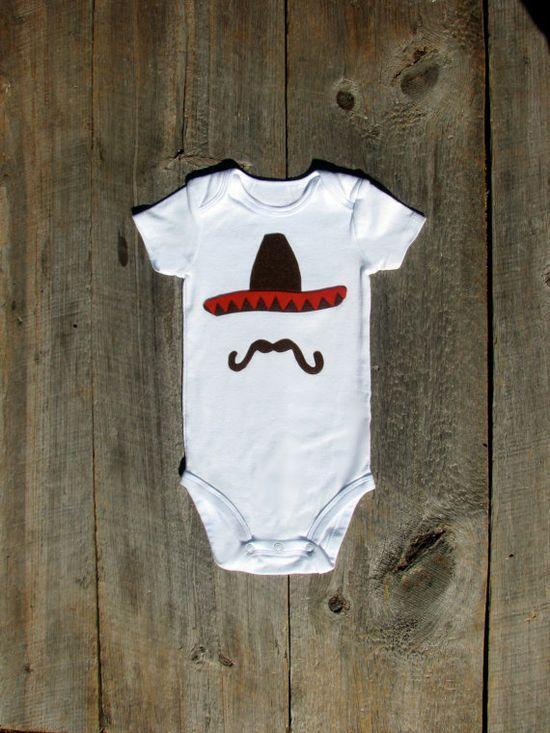 Cinco de Mayo Sombrero Onesie  Funny Baby by TheWishingElephant, $18.00
