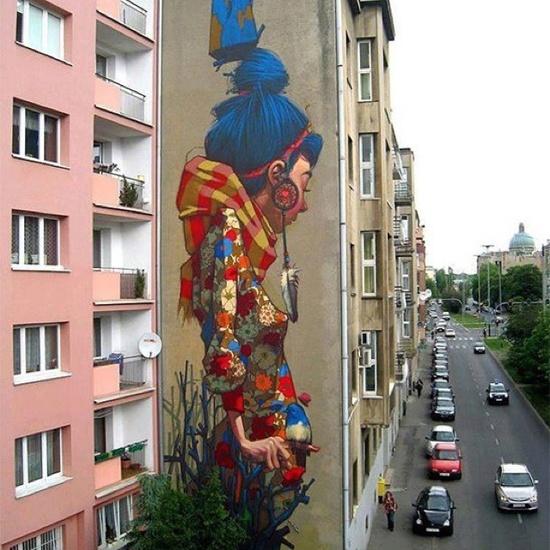Street art in Poland artist unknown