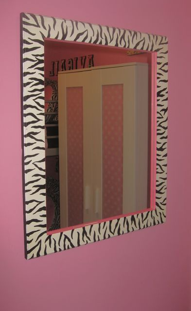 Zebra and pink bedroom
