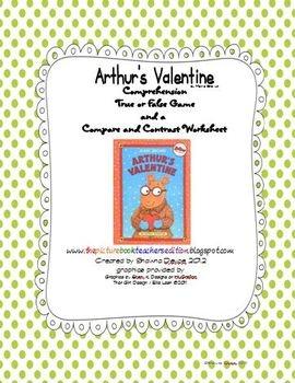 Arthur's Valentine activities free