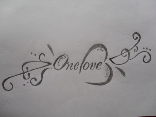 One Love,One Heart Tattoo