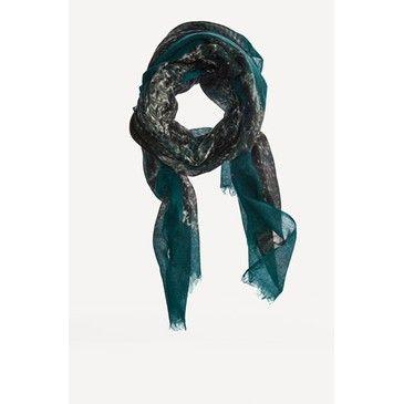 Massimo Dutti wool animal print scarf