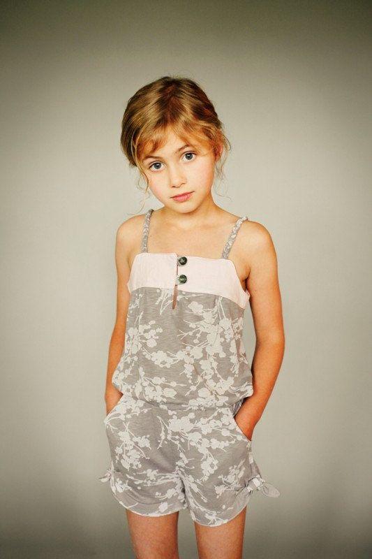 Dress/Romper Pattern, ZEPHYR by Figgy's, Cute Modern little girl dress/romper. $17.00, via Etsy.