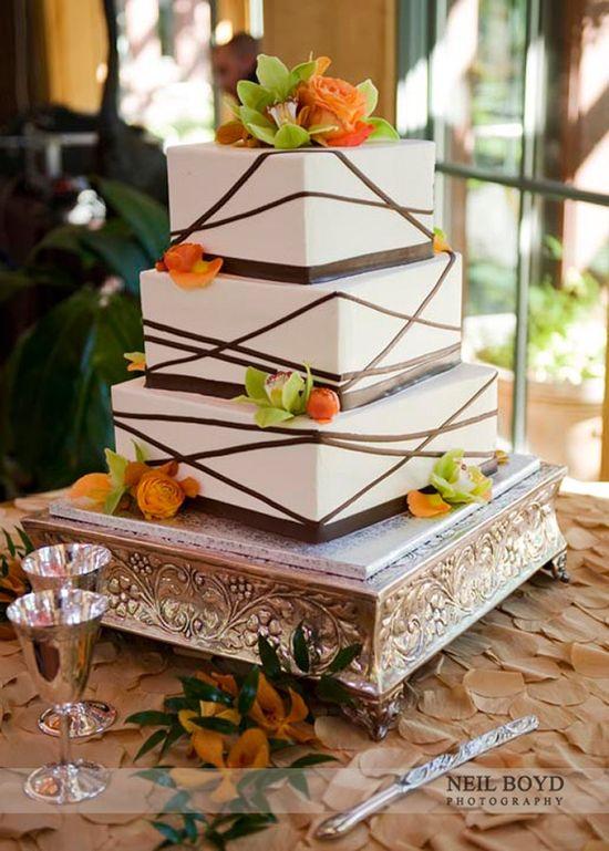 Autumn wedding cake.