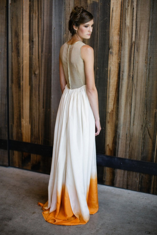 A dip-dyed wedding dress? Yes, please.
