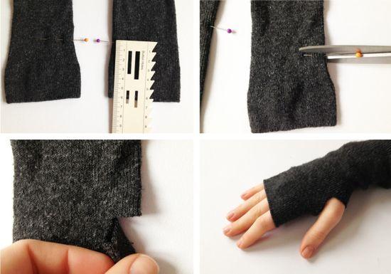 DIY guantes mitón