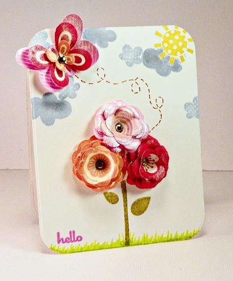 Blooming Hello - Scrapbook.com