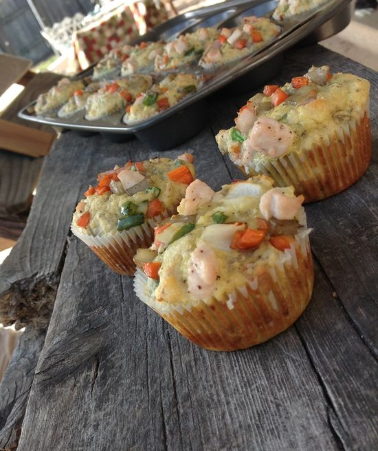 Primal Chicken Pot Pie Muffins
