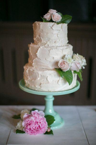 pretty, home-made wedding cake