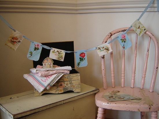 Shabby Chic for Valentine's Day by VintageScraps, via Flickr