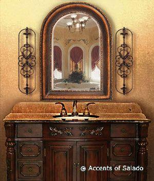 Tuscan bathroom idea