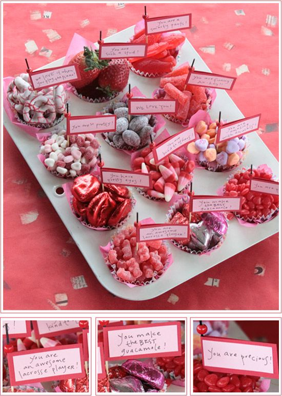Valentine Candy & Love Note Muffins - What a Great Idea!