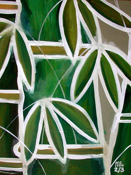 BAMBOO  - MODERN ART EVERYTHING GREEN COLLECTION
