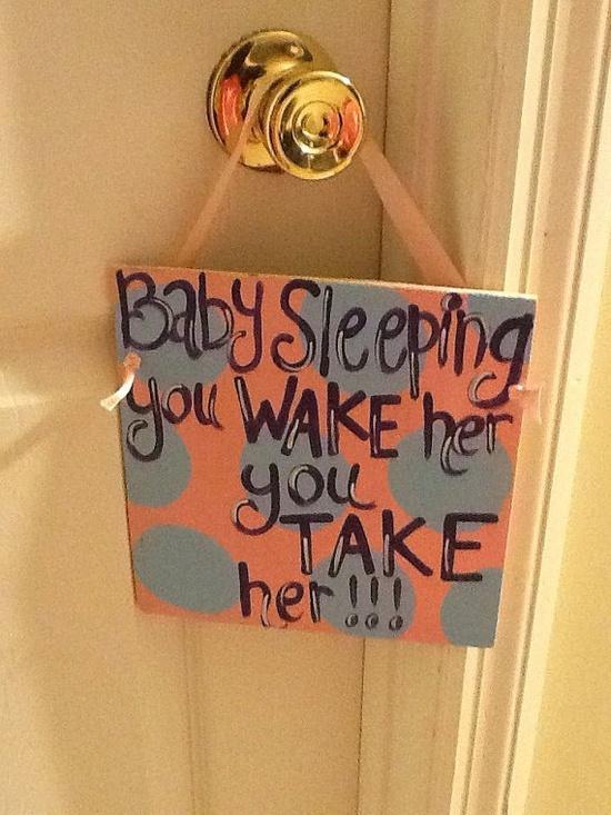 baby sleeping sign :)