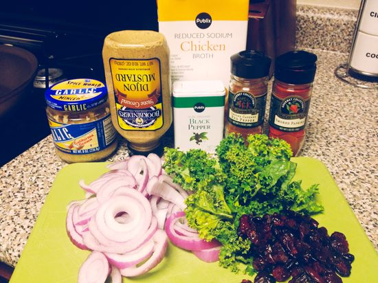 sweet and savory kale
