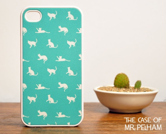 Mint green Kitty case