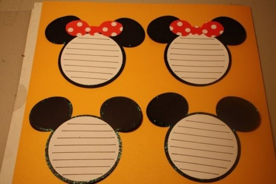 Disney Mickey and Minnie Journaling tags