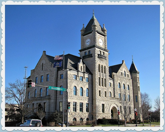 Douglas County courthouse, Lawrence, KS, USA
