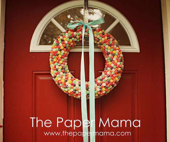 Gumdrop wreath! Time consuming... but, easy to make! #gumdrop #wreath #holiday #christmas #diy #decor
