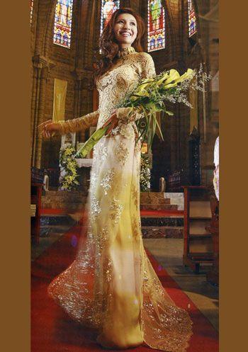 Yellow Wedding Ao Dai. Ao dai