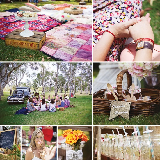 Vintage Style Picnic Baby Shower, I want to have a baby shower like this someday! :)