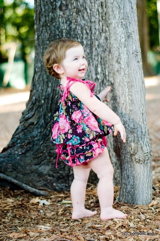 ruffled baby bloomers and dress #baby #clothes