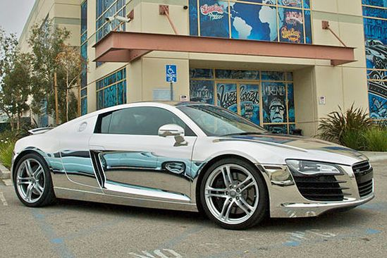 Audi R8 in chrome... Saw one in WeHa today.... Sick car