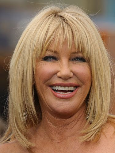 Best Cut for Straight Hair: Try a long shag like Suzanne Somers for a sexy 'do. This style works well with straight hair because it adds texture and volume that could not be achieved if left long and heavy, says Amanda Shackleton, a New York City-based celebrity hairstylist.