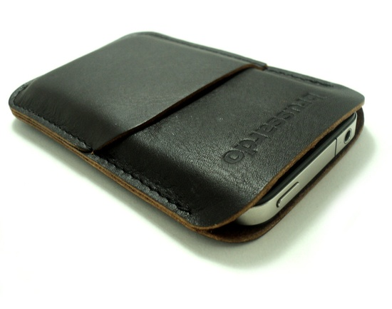 iPhone 5 leather case.