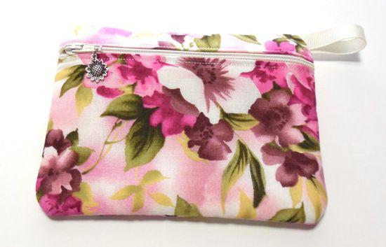 Pink Floral #Padded #Camera #Gadget #Zip #Bag by GabbysQuiltsNSupply, $8.25